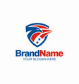 american eagle mascot icon logo vector image