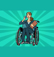 beautiful woman disabled businesswoman vector image vector image
