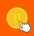 bitcoin icon exchange buying cryptocurrency vector image vector image