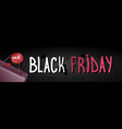 black friday sale horizontal banner over grunge vector image vector image