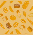 bread seamless pattern different types bread vector image vector image