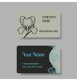 Business card collection with floral ornament