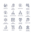 business management process vector image vector image
