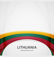 celebrating lithuania independence day vector image