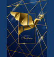 christmas and new year card gold art deco dove vector image vector image