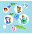 Christmas set vektor vector image vector image