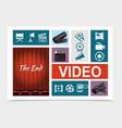 cinema elements composition vector image vector image