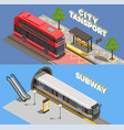 city transport banners set vector image vector image