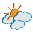 Cloud with sunny weather forecast icon EPS10 vector image vector image