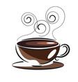 coffee love vintage vector image