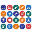 collection of round icons high technology vector image vector image
