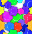 Colorful Gears Seamless Background vector image vector image