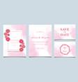 colorful greeting wedding invitation card set vector image vector image