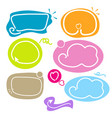 cute hand drawn line frame border set collection vector image vector image