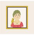 cute interpretation friday kahlo self portrait vector image