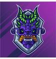 dragon head mascot logo design vector image