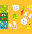 easter rabbit character bunny seamless pattern vector image vector image