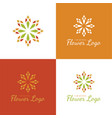 elegant flower logo and icon vector image