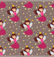 fairy princess adorable characters seamless vector image vector image