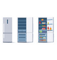 flat refrigerators set vector image vector image
