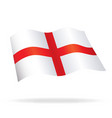 flowing flag of england st georges cross vector image