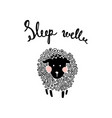 fluffy sheep vector image vector image