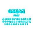 font ocean vector image vector image