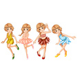 Four fairies in beautiful outfit vector image