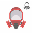 gas mask flat icon vector image vector image