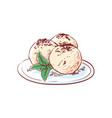 gelato ice cream isolated icon vector image vector image