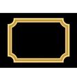 Gold frame Beautiful golden black vector image vector image