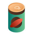 green bean tin can icon isometric style vector image