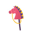 horse on stick flat animal vector image vector image