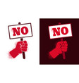 icon hand holding a poster vector image vector image