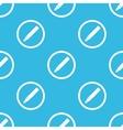 Ink pen sign blue pattern vector image vector image