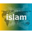 islam hi-tech background digital business touch vector image