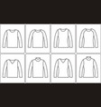 jumper outline icon vector image vector image