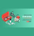 keeping eyes healthy banner vector image vector image