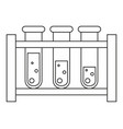 line art black and white blood test tube set vector image