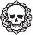 mandala skull symbol design vector image