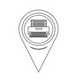 map pointer printer icon vector image