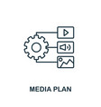 media plan outline icon thin line concept element vector image vector image