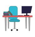 modern furniture cartoon vector image