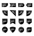 new product promotion black labels set vector image vector image