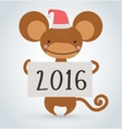 New year monkey ape wild cartoon animal holding vector image