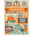 News Newspaper Festive Halloween vector image vector image