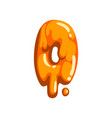 o letter of sweet fruit jelly glossy edible vector image