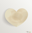 Paper heart shape symbol for Valentines day with vector image