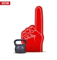 Powerlifting gym Sports Fan Foam Fingers and vector image vector image