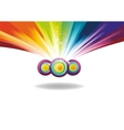rainbow banner with sparks vector image vector image